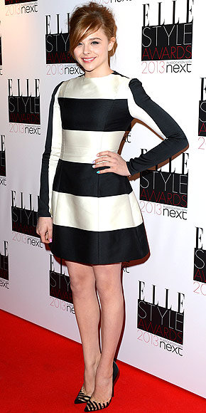 chloe-moretz-striped-dress