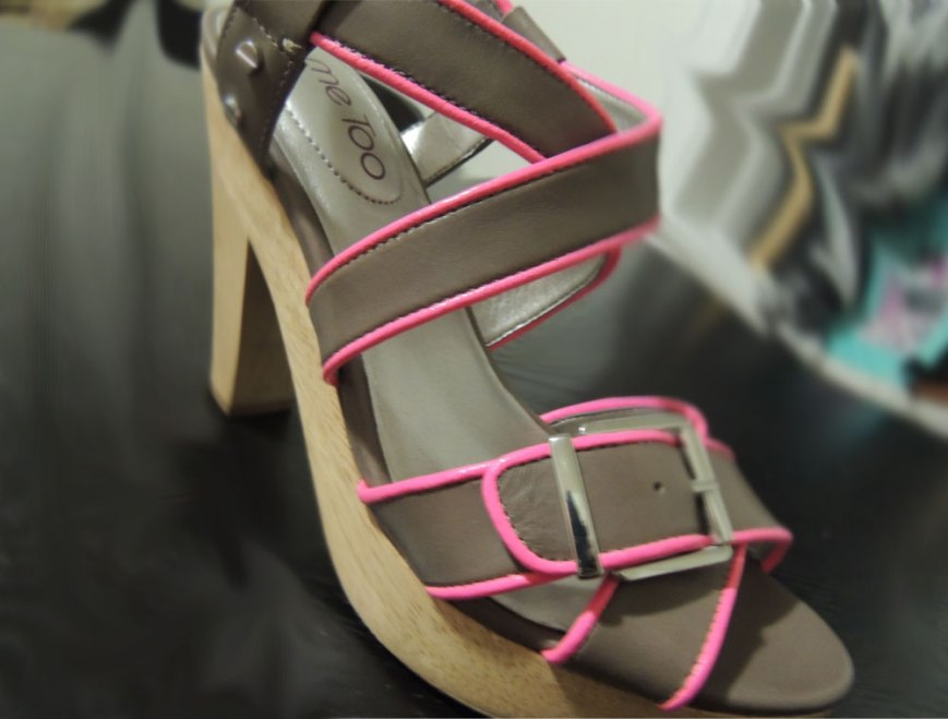 Me Too Neon Trim Ebony Sandal