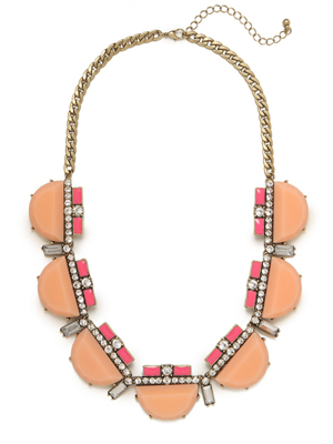 Bauble Bar Melon Deco Bib Necklace