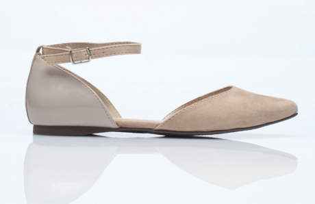 Nude D'Orsay Flat, Ankle Strap, Need Supply Co