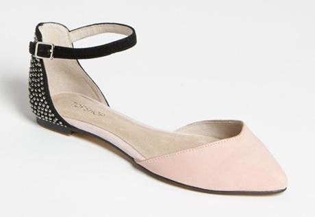 Topshop D'Orsay Flat, Color Block, Ankle Strap - Nordstrom