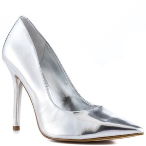 Guess Silver Pointy Toe Pumps